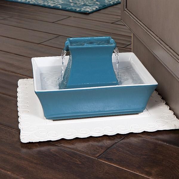 Drinkwell® Pagoda Cat Dog Fountain (Blue)