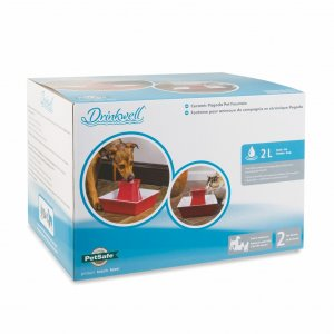 Drinkwell® Pagoda Pet Fountain (Red)